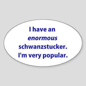 Schwanzstucker Oval Sticker