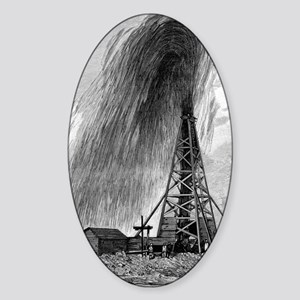 Oil well, 19th century Sticker (Oval)