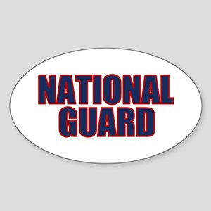 NATIONAL GUARD Oval Sticker