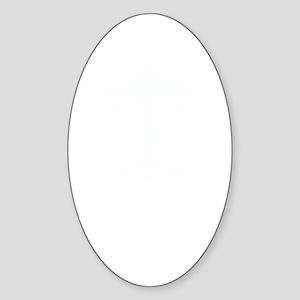 DTTWSHIRTwhite Sticker (Oval)