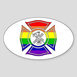 Fire Pride Oval Sticker