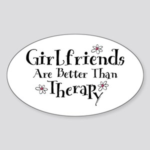 Girlfriend Therapy Oval Sticker