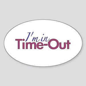 Girls Time Out Oval Sticker