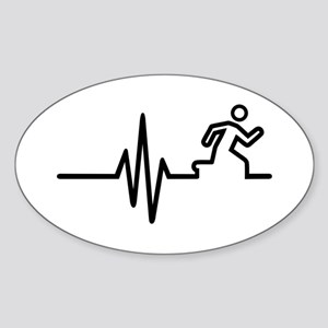 Runner frequency Sticker (Oval)