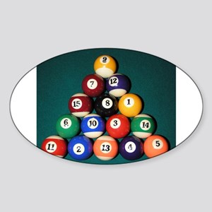 8 Ball Rack Oval Sticker