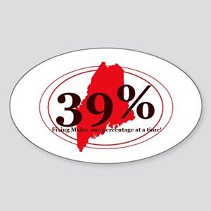39% Sticker (Oval)