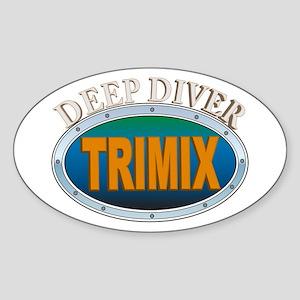 Trimix Deep Diver Oval Sticker