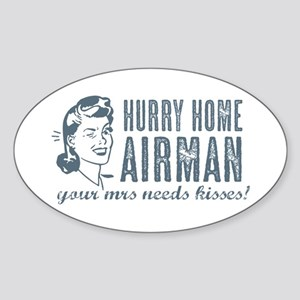 Hurry Home Airman Sticker (Oval)