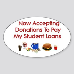 Student Loan Donations Oval Sticker