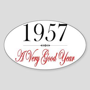 1957 Oval Sticker