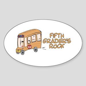 5th Grade Oval Sticker