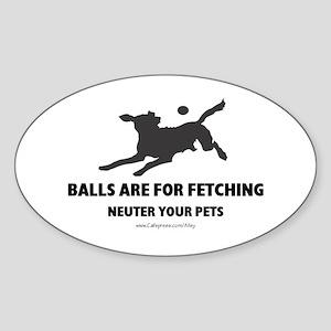 Neuter Your Pets Oval Sticker