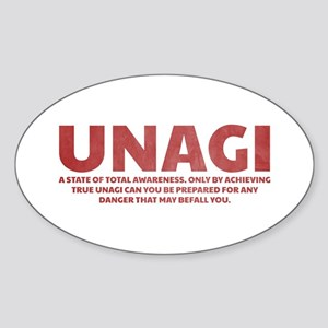 Friends Unagi Sticker (Oval)