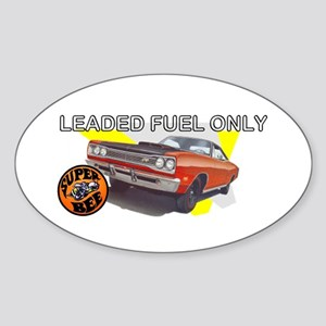 Leaded Fuel Only Oval Sticker