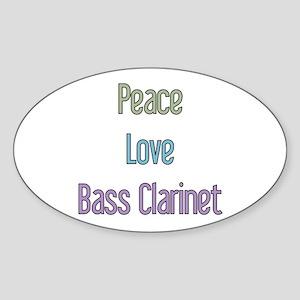 Bass Clarinet Gift Oval Sticker