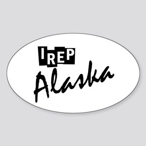 I rep Alaska Sticker (Oval)