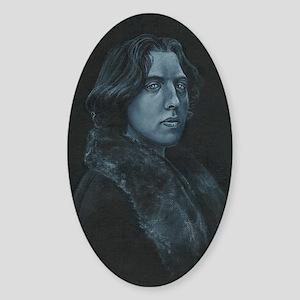 Oscar Wilde Sticker (Oval)