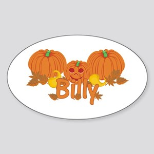 Halloween Pumpkin Billy Sticker (Oval)