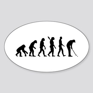 Golf evolution Sticker (Oval)