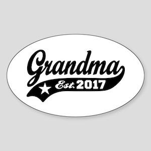 Grandma Est. 2017 Sticker (Oval)