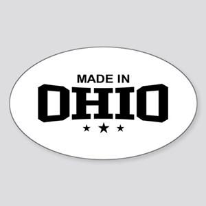 Made In Ohio Oval Sticker
