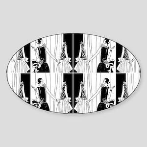 1920s flapper 2 Sticker (Oval)
