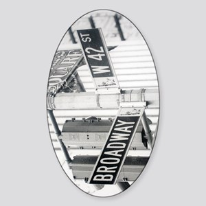 New York - Broadway Times Square Sticker (Oval)