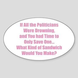 Politicians Sandwich Sticker