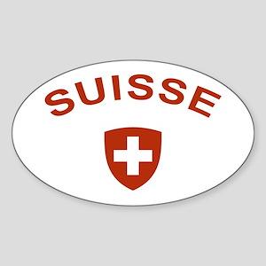 Switzerland suisse Oval Sticker