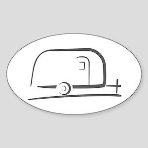 Airstream Silhouette Sticker (Oval)