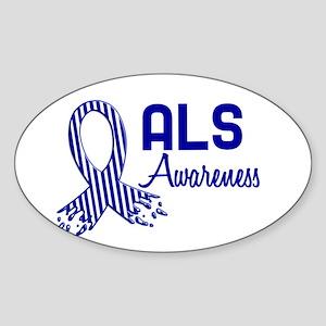 ALS Awareness Oval Sticker