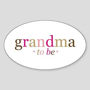 Grandma to be (fun) Oval Sticker