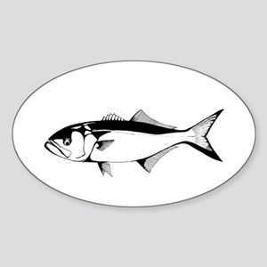 bluefish Oval Sticker
