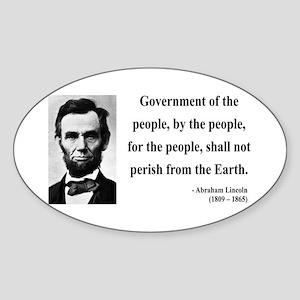 Abraham Lincoln 30 Oval Sticker