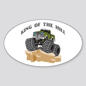 Rock Crawling 4 Wheeling Oval Sticker