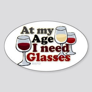 I Need Glasses Sticker (Oval)
