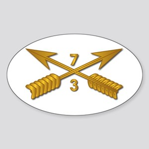 3rd Bn 7th SFG Branch wo Txt Sticker (Oval)