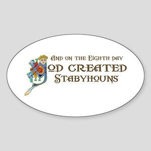 God Created Stabys Oval Sticker