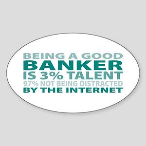 Good Banker Oval Sticker