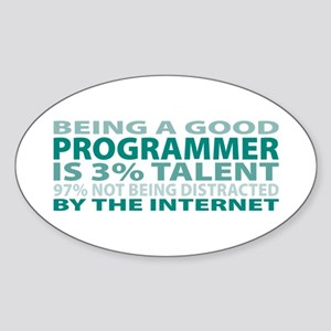 Good Programmer Oval Sticker