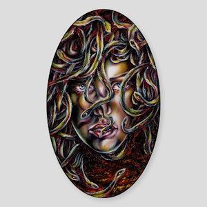 Medusa No.Three Framed Print Sticker (Oval)