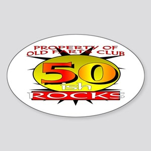 50ish Old Farts Club Oval Sticker
