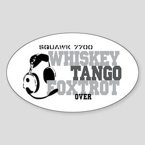 Aviation Oval Sticker