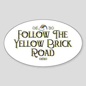 Follow the Yellow Brick Road Oval Sticker