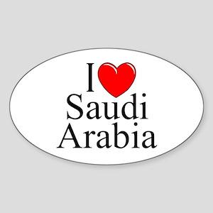 """""""I Love Saudi Arabia"""" Oval Sticker"""