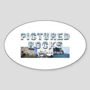 Abh Pictured Rocks Sticker (oval)