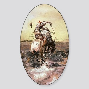 cowboy art Sticker (Oval)