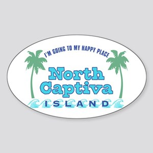 North Captiva Happy Place - Sticker (Oval)