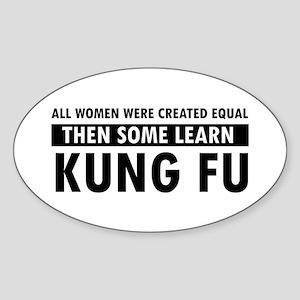 Kungfu design Sticker (Oval)