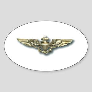 'Naval Aviator Wings' Oval Sticker